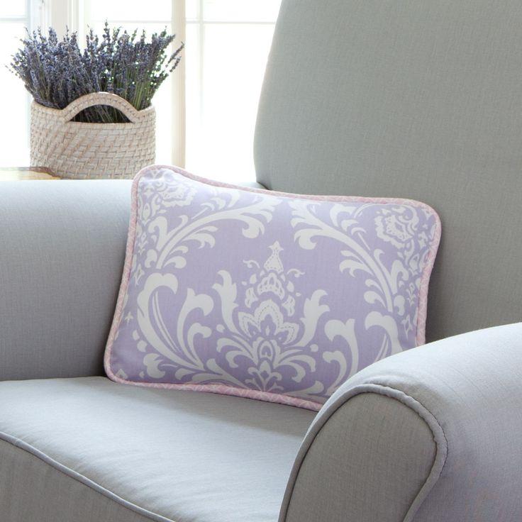 Lilac and Silver Gray Damask Nursery Decor   Carousel Designs