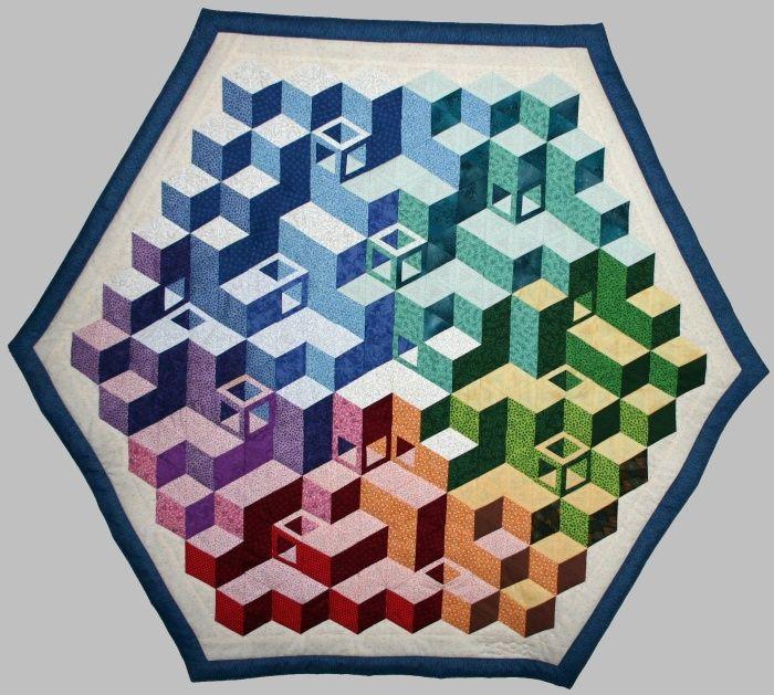 3D quilts | wuerfelwelt groesse 120 103 cm 1998 dieser 3d quilt ist nach einer ...