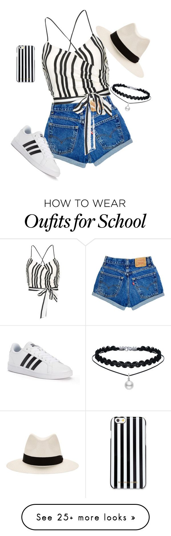 """Kicking it old school"" by denverheather on Polyvore featuring Alice + Olivia, rag & bone, MICHAEL Michael Kors and adidas"