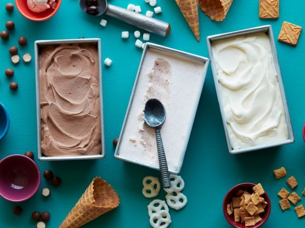"""""""Recipe of the Day: No Churn Ice Cream                                                                                                                          You don't need a fancy ice cream maker to make this delicious frozen treat. The chocolate, vanilla and strawberry flavors are easily enhanced with choice mix-ins: candies, cookies, nuts, you name it."""""""