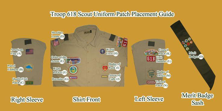 boy scout patch placement diagram | Patch Placement | Nas... )
