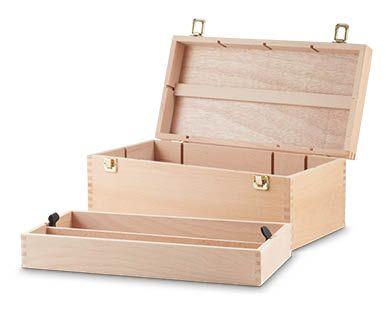 Artist Beechwood Storage Box - ALDI Australia