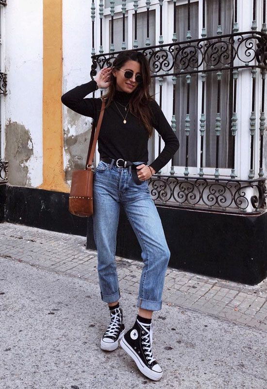 20 Fashionable Travel Winter Outfits Ideas Source by lillyawa Sporty Outfits fashionable ideas lillyawa Outfits source Travel Winter Converse Noir, Converse Haute, High Top Converse Outfits, Sporty Outfits, Mode Outfits, Cute Casual Outfits, Fashion Outfits, Converse Fashion, Outfit With Black Converse