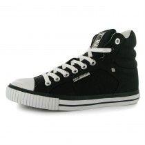 British Knights fekete/fehér deszkás férfi magasszárú cipő