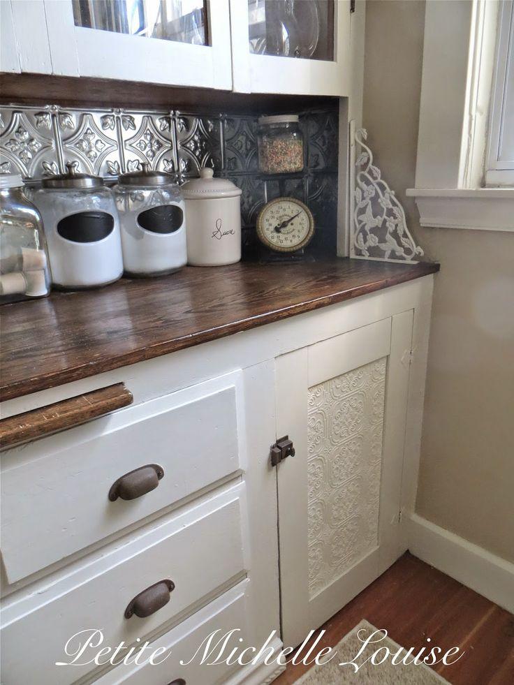 Cute Shelf Wallpaper Petite Michelle Louise Diy Cabinet Door Facelift In 2019