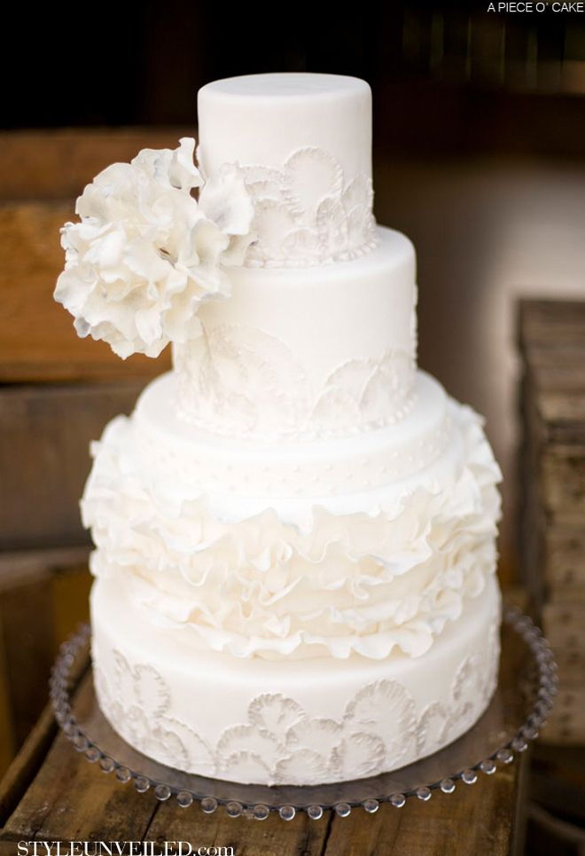 748 best White wedding cakes... images on Pinterest | Beautiful ...