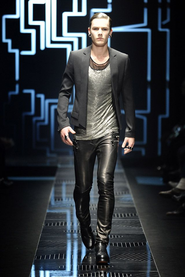 Donatella Versace - Fall/Winter collection 2010/2011 Milan Fashion Week  Love the leather pants but the shirt is a bit much.