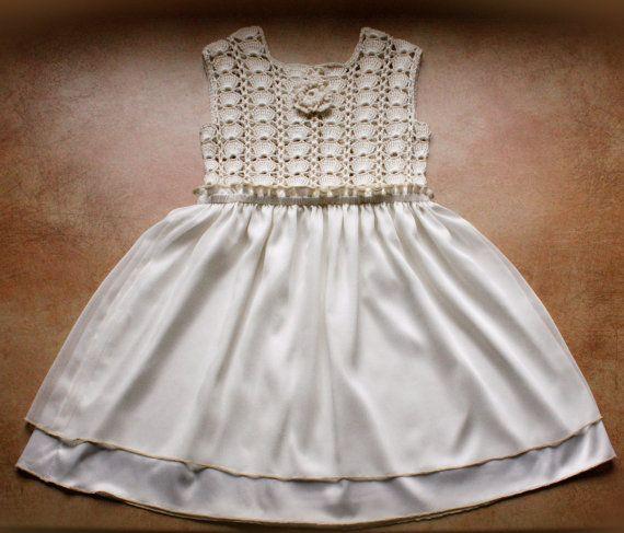 Baby Dress . Crochet Top