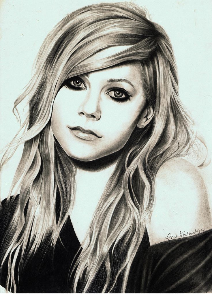 Avril Colour Pencil Drawing