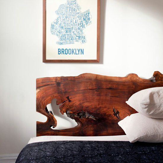 An impressive natural piece of wood in large proportions can do wonders in your bedroom.(image by Chris Sanders)