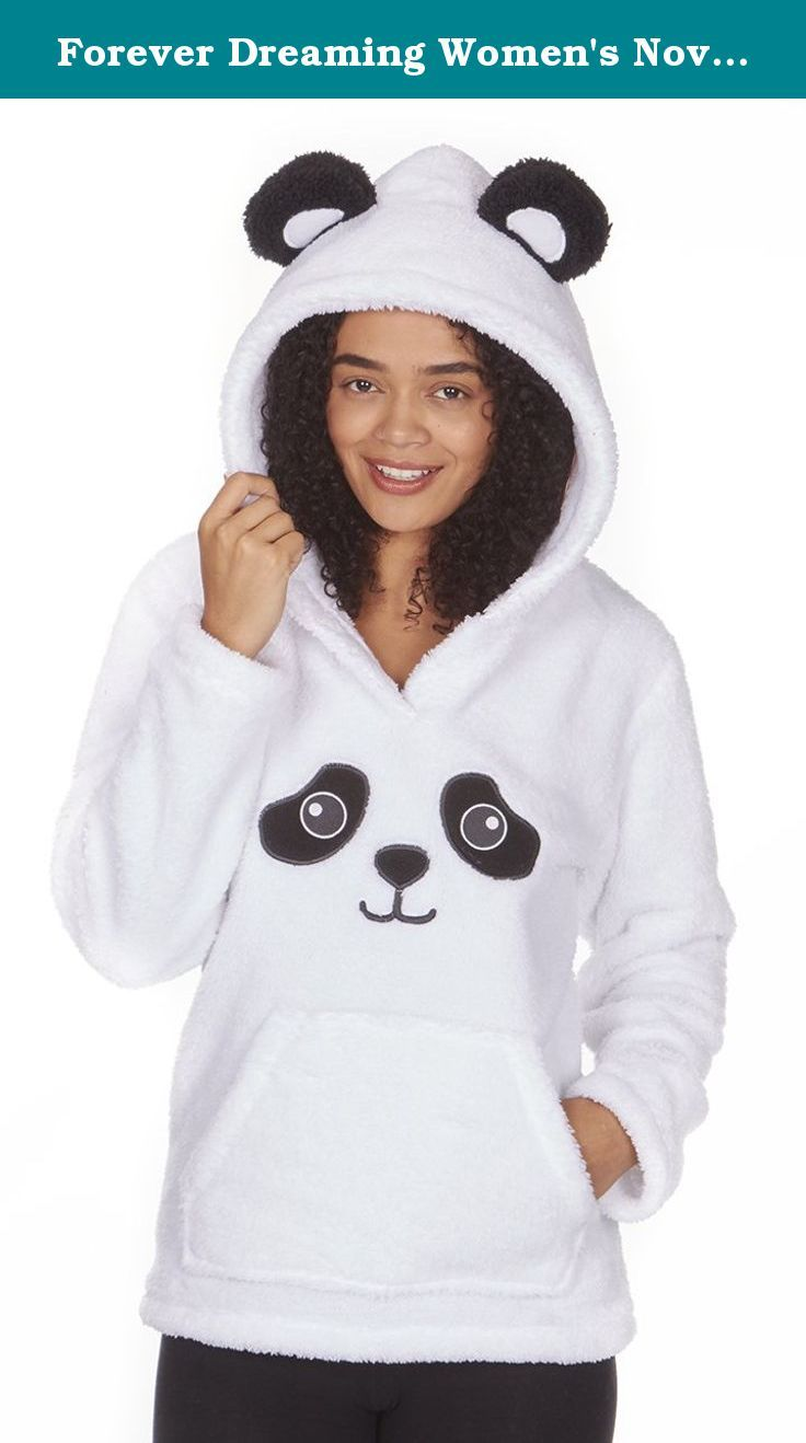 Forever Dreaming Women's Novelty Snuggle Fleece Pajama Top Hoodie. Keep snug and warm with our brand new bear themed hoodies! Perfect for winter and for those cold nights and/or days while lounging around the house. Made from a 100% Polyester snuggle fleece meaning these are super soft, strong, light weight, and resistant to shrinking, stretching, mildew and creasing! Choose from various sizes and two amazing designs! Please visit our Metzuyan store page for even more in ladieswear!.