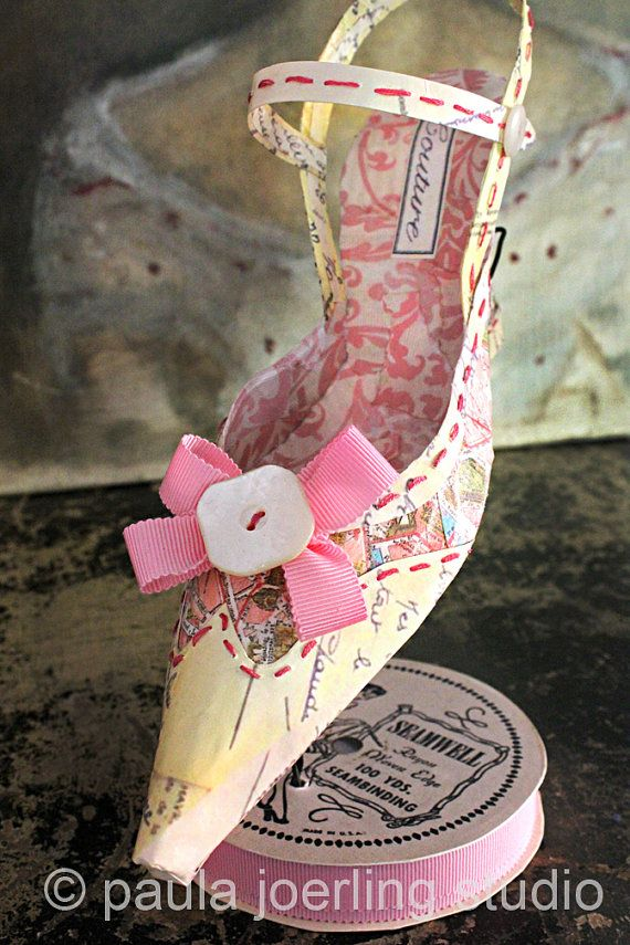 Paper Shoe Sculpture - Doris