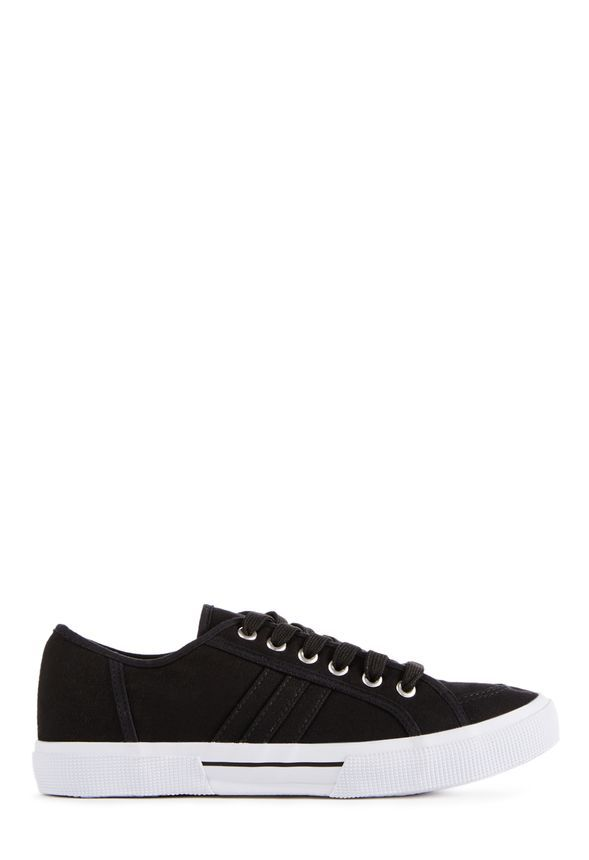 Brytt is a classic sneaker with a contrasting white sole and simple lace-up top detail. So comfy! l JustFab