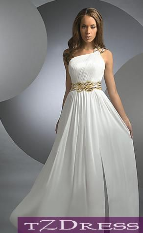 Greek goddess prom dress