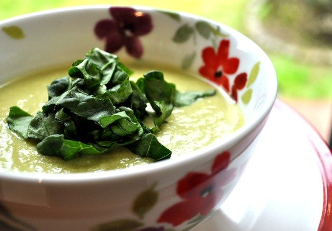 Asparagus and Spring Onion Soup2