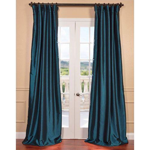 Half Price Drapes Mediterranean 108 x 50-Inch Blackout Faux Silk Taffeta Curtain Single Panel