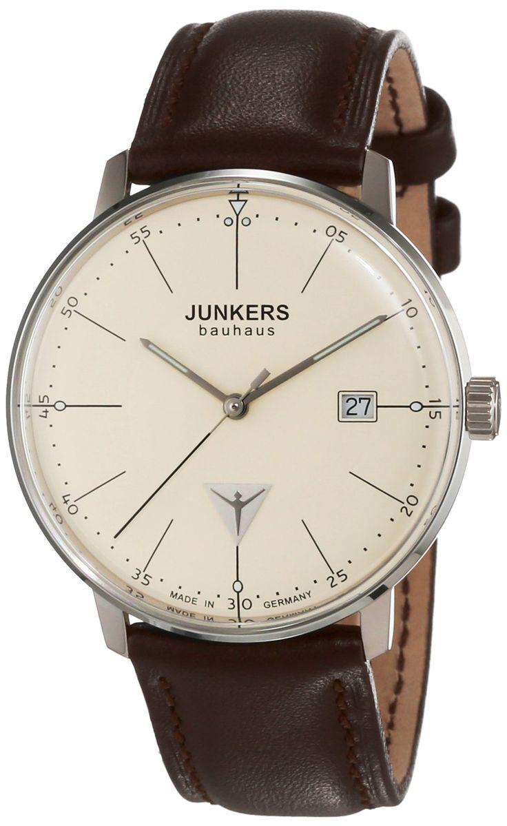 Junkers Herren-Armbanduhr XL Bauhaus Analog Quarz Leder 60705