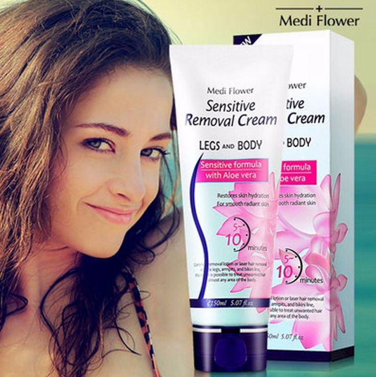 Medi Flower Sensitive Hair Removal Depilatory Cream Wax 150ml #MEDIFLOWER