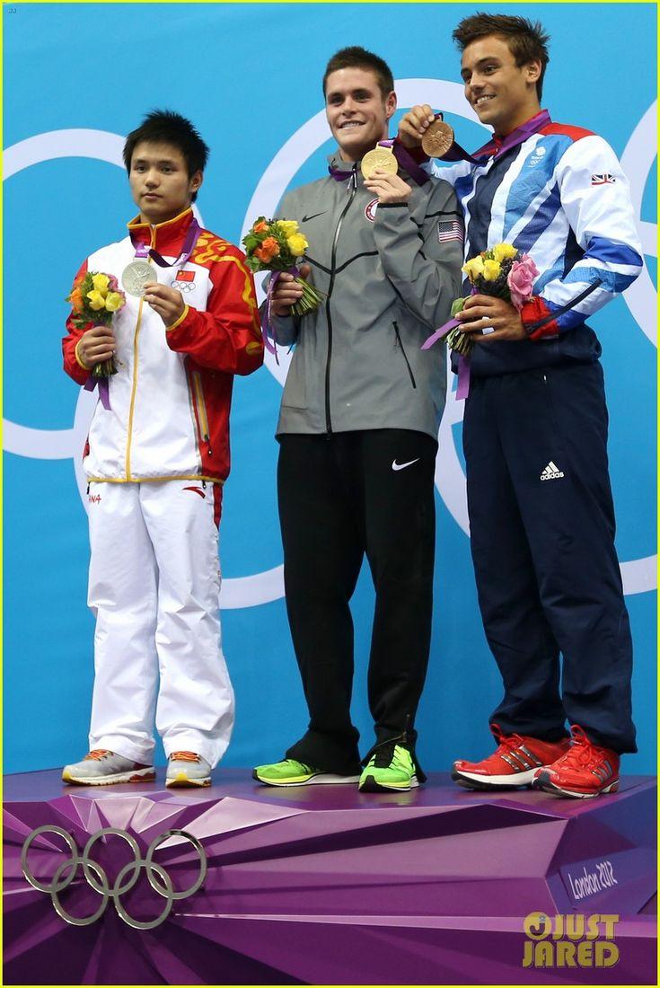 Men's 10m Platform Diving Final - David Boudia (USA, gold), Qiu Bo (China, silver), Tom Daley (UK, bronze)