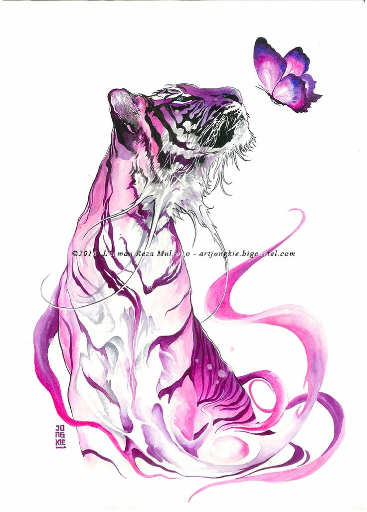 "Original painting by Luqman Reza Mulyono (Jongkie) entitled ""Royal Orchid"". This painting painted on 15 October 2016. Medium watercolors ..."
