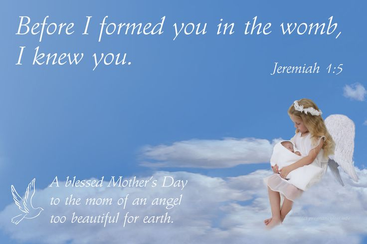 A Mother's Day card for moms who lost their baby to miscarriage or stillbirth, with a Christian scripture on it.