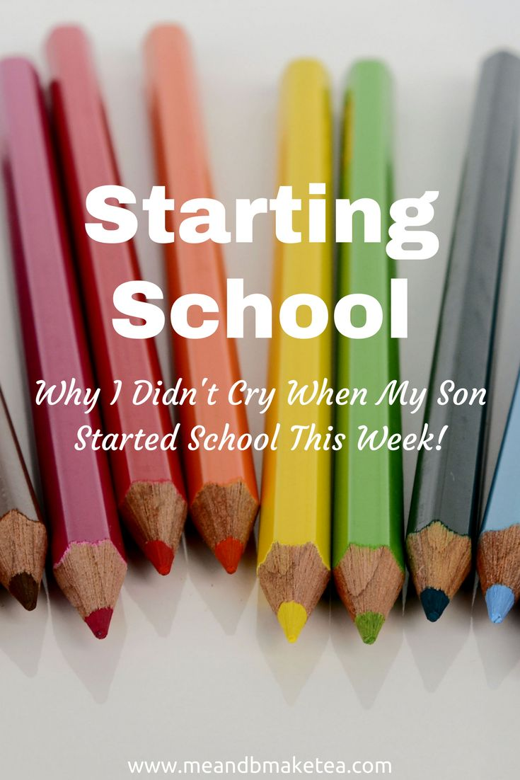 Starting school is always tough but here's how to embrace the change! Here's why i don't feel sad about my son starting school!    And he's off! I was expecting more! A huge rush of mum-emotion and tears. And it hasn't come. The only tears I've been crying are at the thought of trying to cover 12 plus weeks of bloody school holidays.