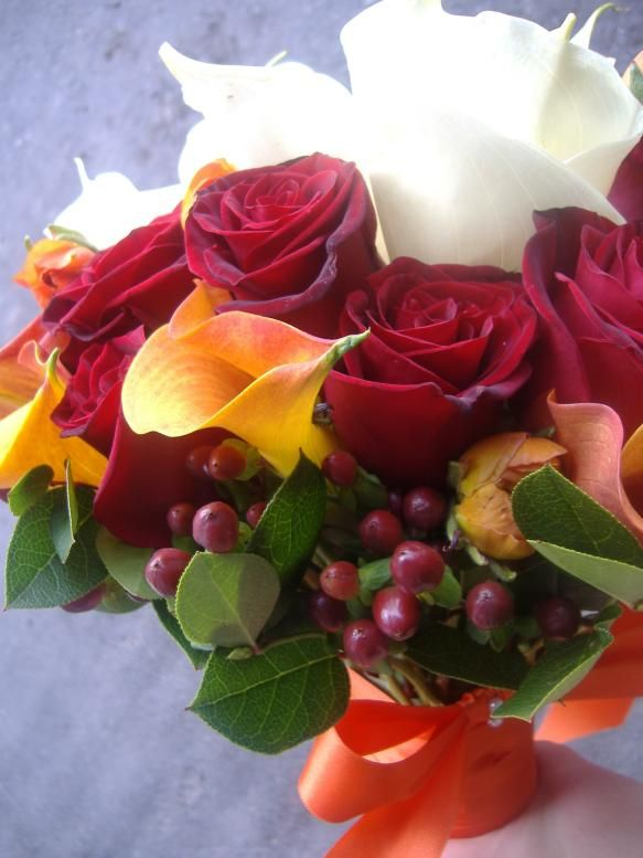 Beautiful Fall Wedding Bouquet Or Use For Summer With