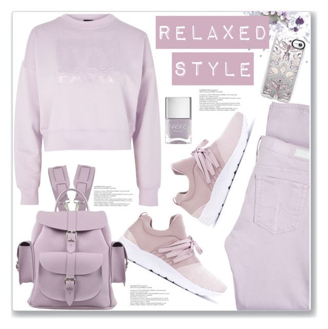 """""""Relaxed Style"""" by queenvirgo on Polyvore featuring AG Adriano Goldschmied, ARKK Copenhagen, Ivy Park, Nails Inc. and Casetify"""