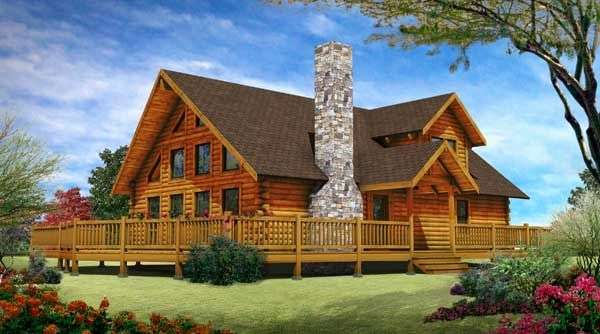 Lakefront Ii Log Cabin Plan By Appalachian Log Structures Inc Log Homes Exterior Log Cabin Plans Log Home Designs