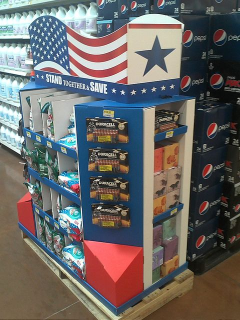 Walmart Olympics 1/2 Pallet by kendalkinggroup, via Flickr