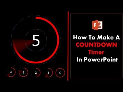 6) How to create a 5 second Countdown Timer in PowerPoint