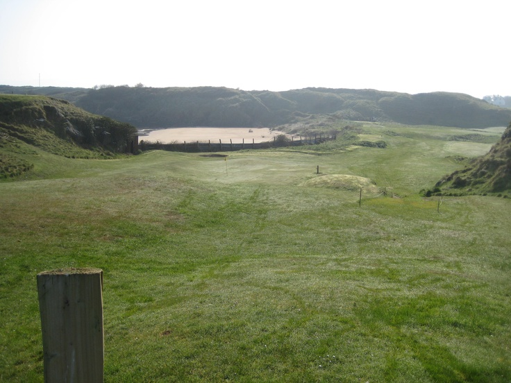 Otway view back to 2nd hole tee box and in front the 3rd green
