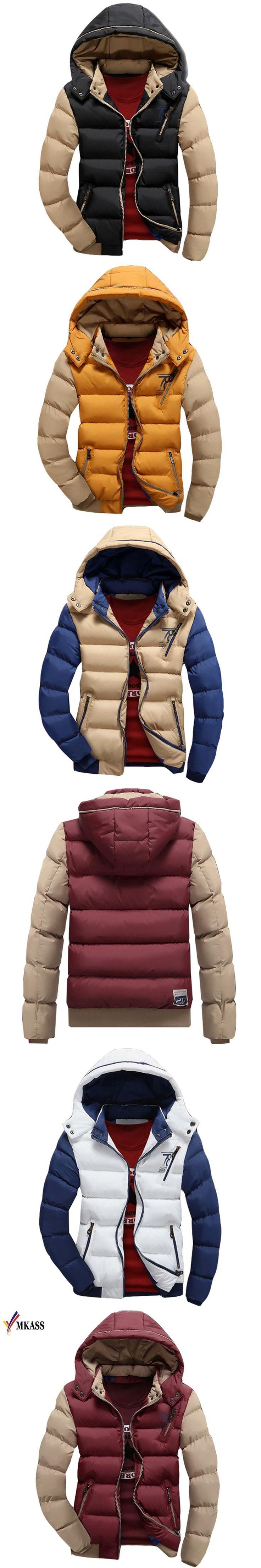 Hot Sale Winter Jacket Men Warm Down Jacket Casual Parka Men Padded Winter Jacket Casual Handsome Winter Coat Men Size M-4XL