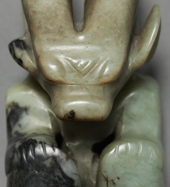 Pendant in the shape of a seated figure with bovine head for Asian furniture dc
