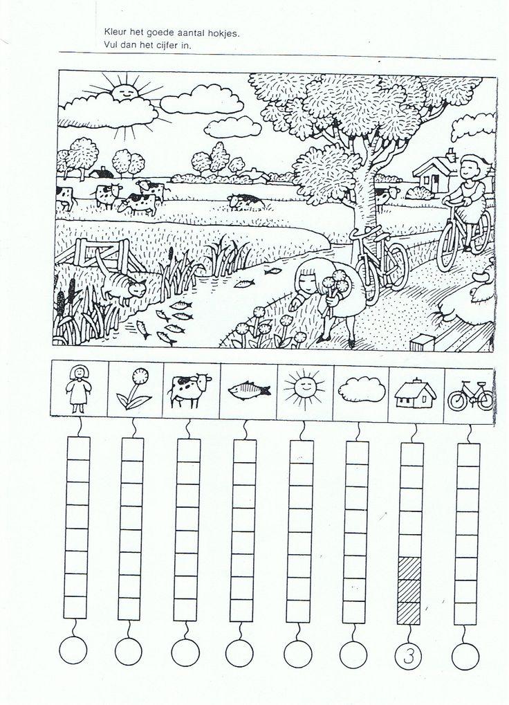 Thema boerderij: Werkblad tellen