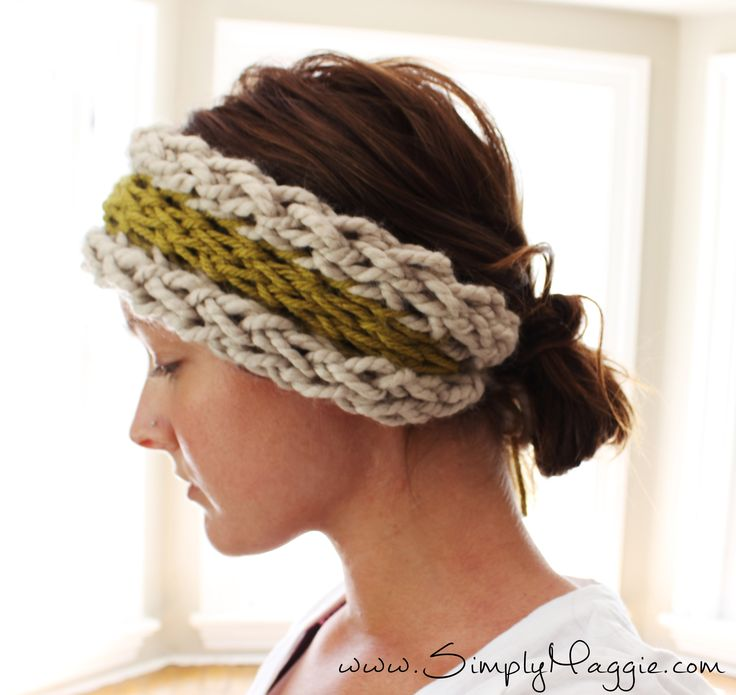 Finger knitting is right up there in popularity with arm knitting. Except with this technique you make smaller scale pieces. Like this ear warmer! I made mine in 15…