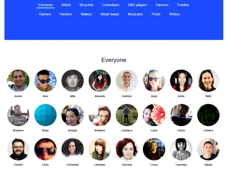 meet the team examples on websites