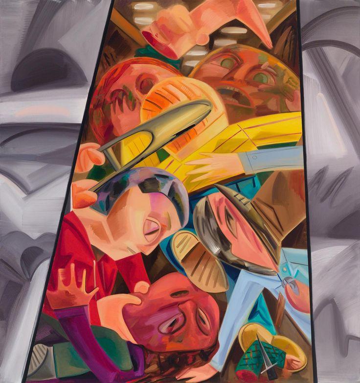 Petzel Gallery - Dana Schutz, Fight in an Elevator 2, 2015