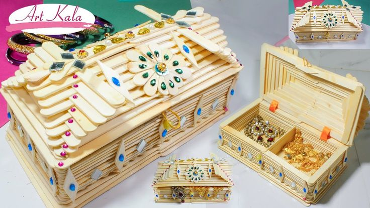 How To Make Jewelry Box Popsicle Stick Crafts Diy