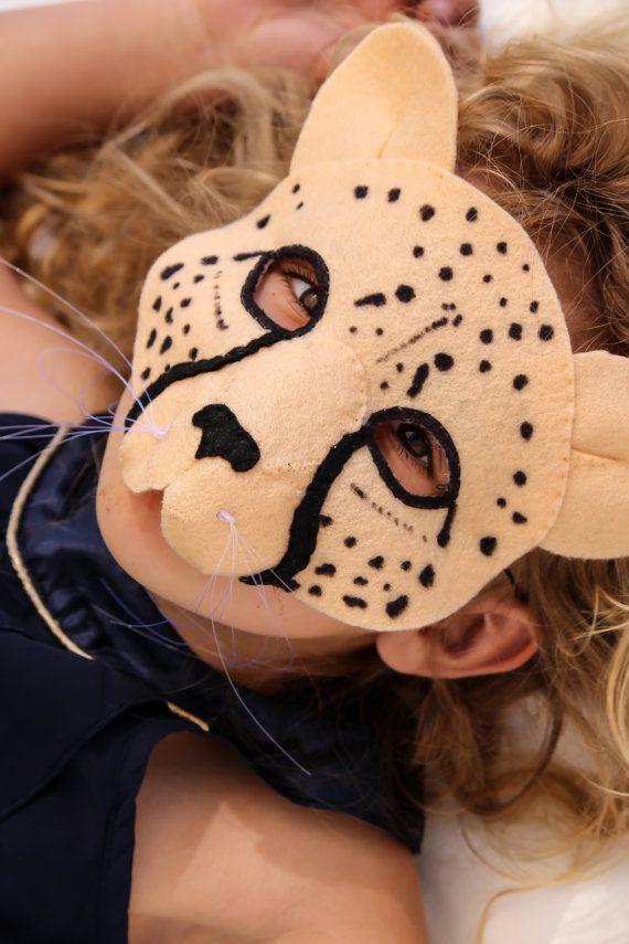 Cheetah Mask PATTERN. Kids Cheetah Costume by EbonyShaeDesigns