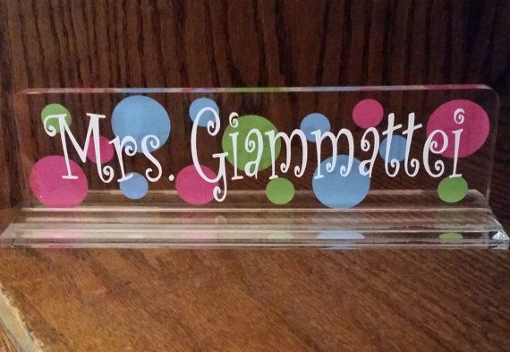 Name Plate for desk  Teachers Name Plate by santasgiftshoppe