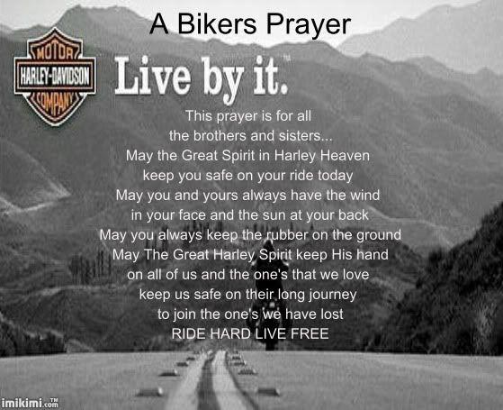 harley davidson  quotes | Bikers Prayer photo bikersprayer.jpg