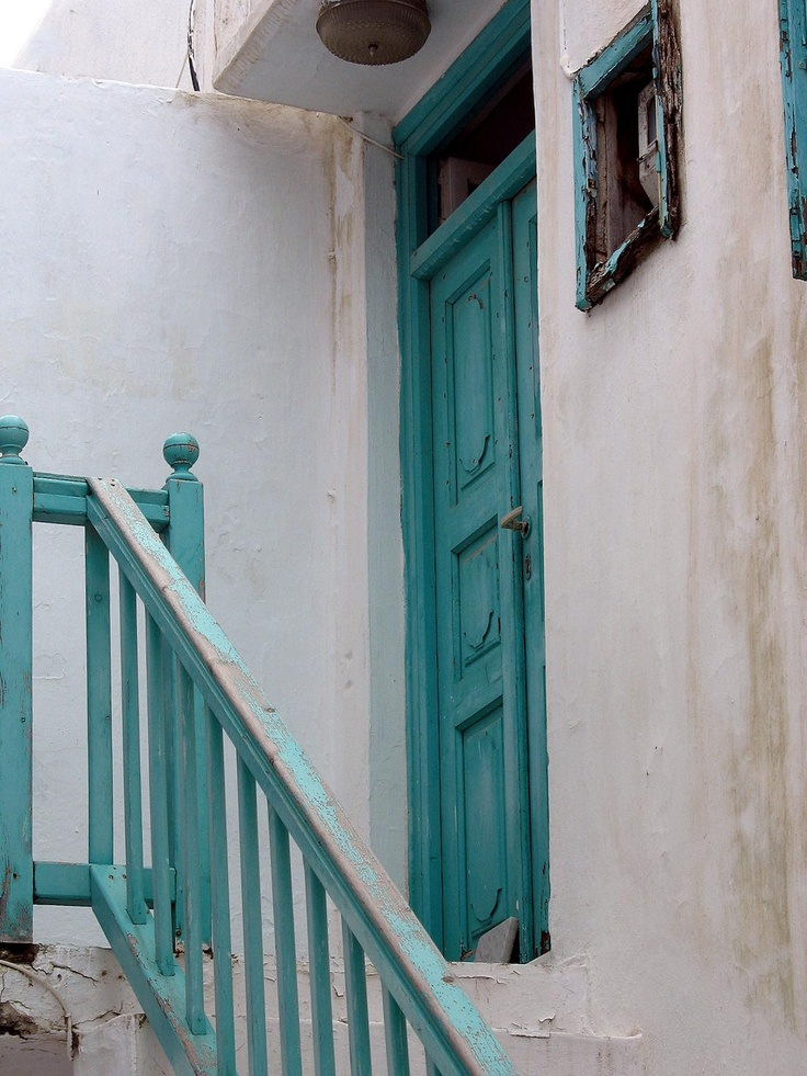 Turquoise Door, Mykonos Town, Mykonos, Greece  2011 / by Marny Perry