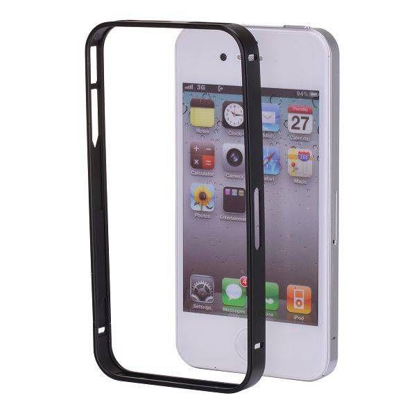 0.7mm zwarte aluminium bumper voor iPhone 4 / 4S