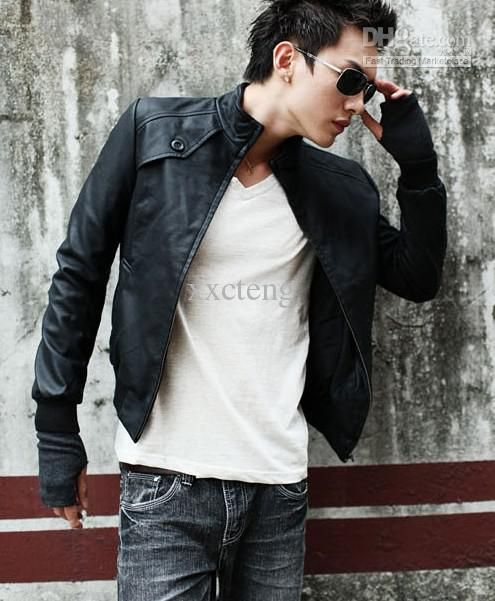 Mens Small Leather Jacket - Pl Jackets