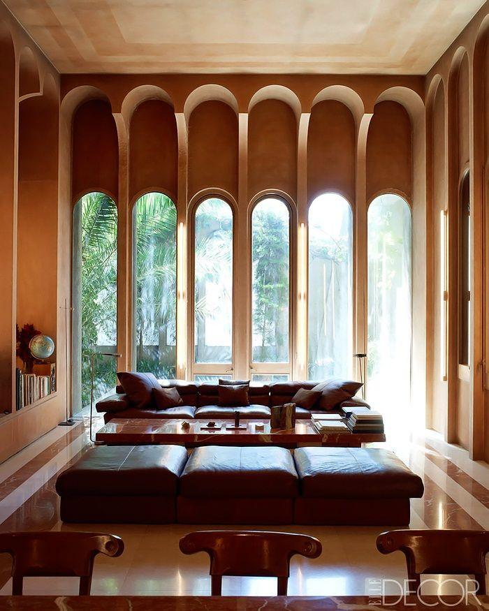 gorgeous arched windows | Elle Decor Concrete-Poetry-Ricardo-Bofill-Architecture-6