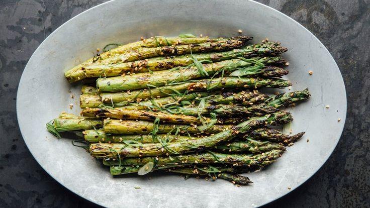 Ginger-Miso Grilled Asparagus | Bon Appetit