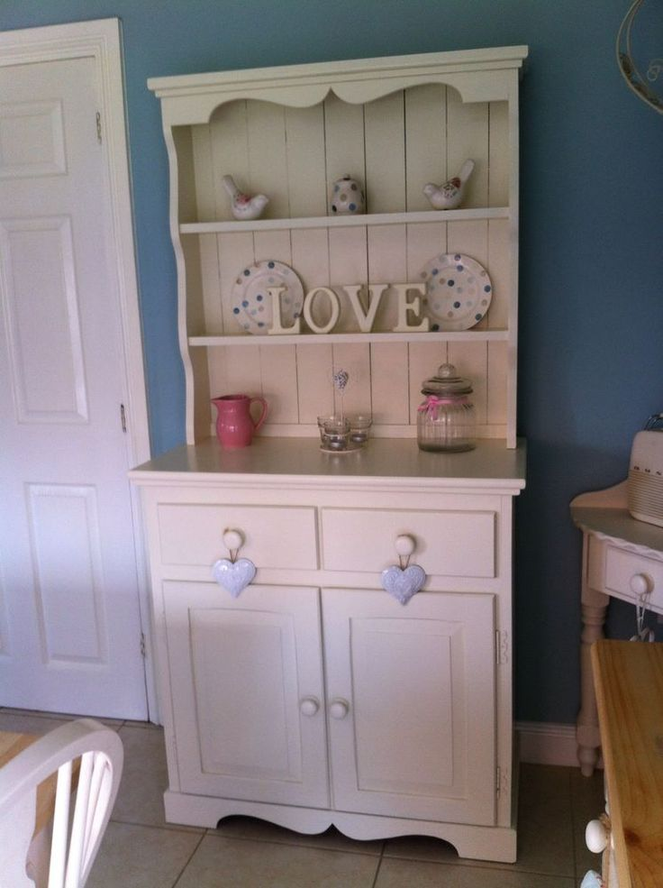 Best Shabby Chic Solid Oak Welsh Dresser In Laura Ashley White 640 x 480