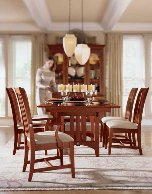 Highland Park Collection From Kincaid FurnitureTrestle TableDining