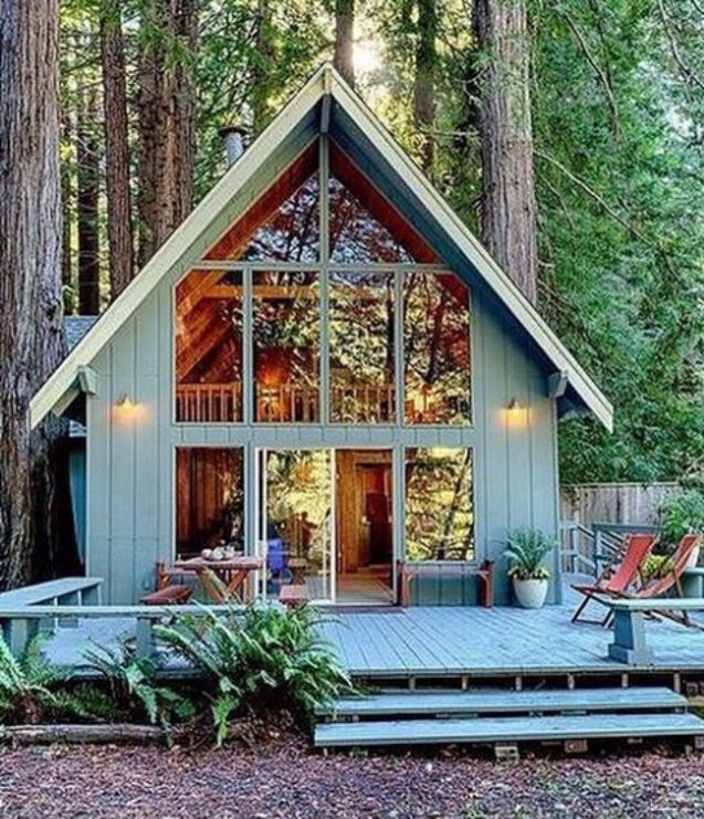 I love this A-frame.  Small bdrm downstairs is needed though.  The loft would be for when my grandchildren visit.